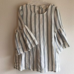 Listicle Bell Sleeve Blouse